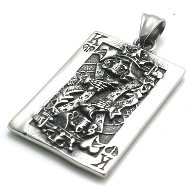 Skull King Of Spades Necklace For Men Women
