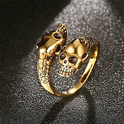 Twin Head Skull Ring