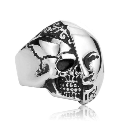 Two Face Skull Ring For Men