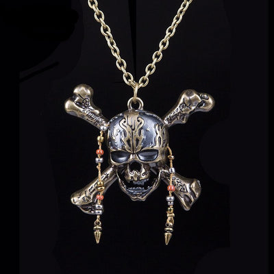 Death Pirate Captain Skull Necklace