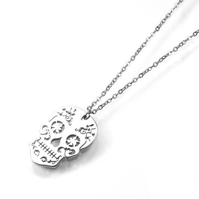 Minimalist Candy Skull Necklace For Women