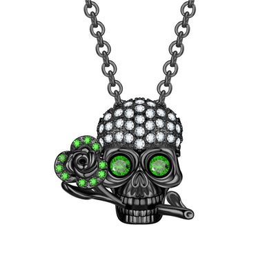 Skull And Rose Necklace For Women