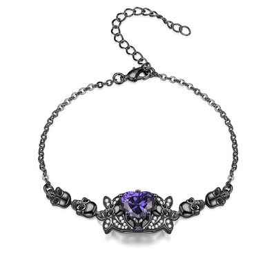 Butterfly Skull Heart Bracelet For Women