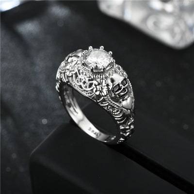 Heart Eater Skull Ring For Women