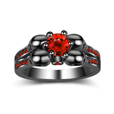 Bloody Red Skull Ring For Women