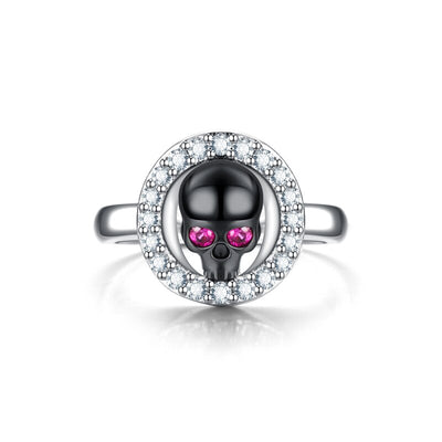Valentine's Day Crystal Skull Ring For Women