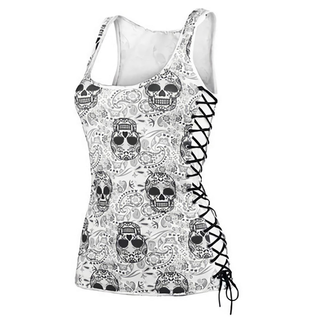 Women's Candy Skull Head Tank Top