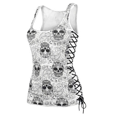 Candy Skull Head Tank Top