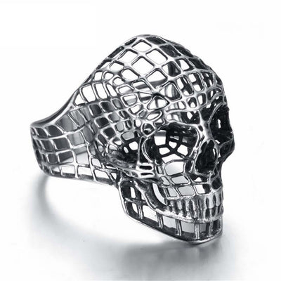 Hollow Skull Ring For Men