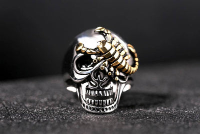 Scorpion Skull Ring For Men