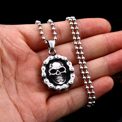 Soul Of Bike Skull Necklace For Men