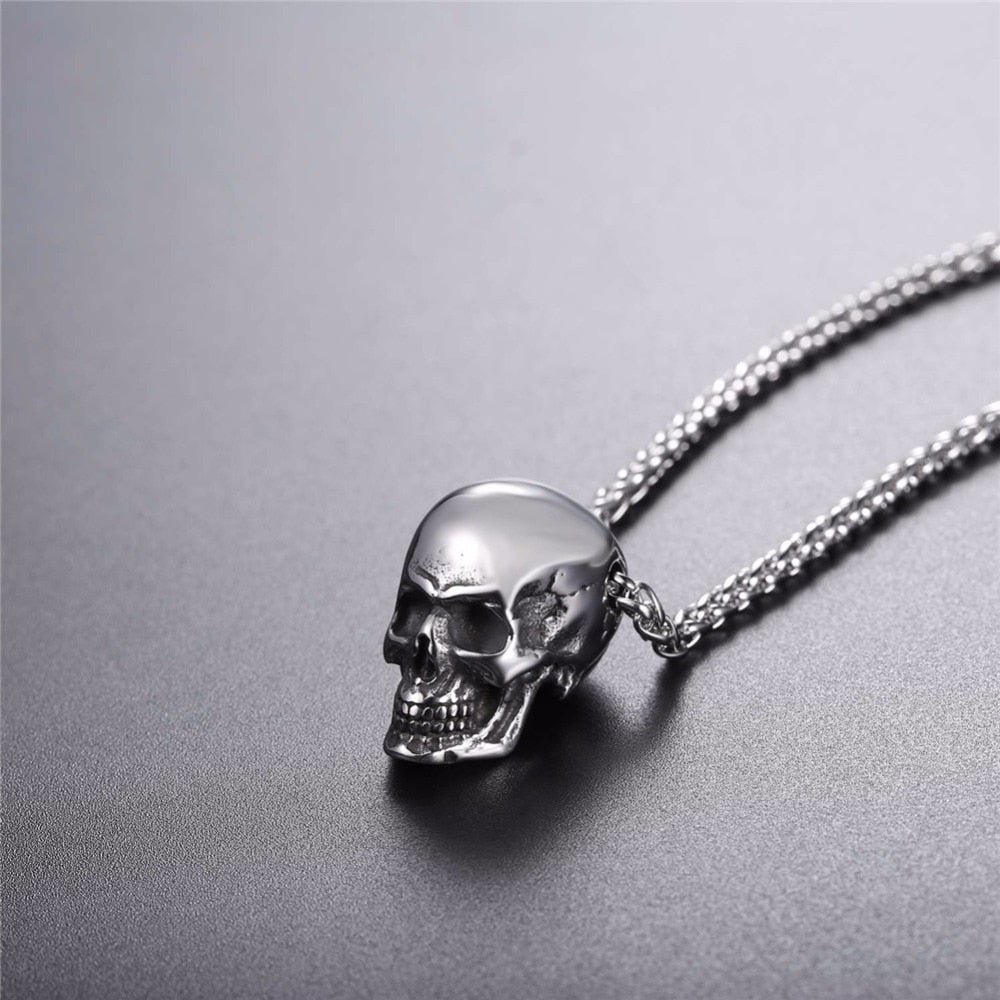 Gothic Skull Necklace For Men
