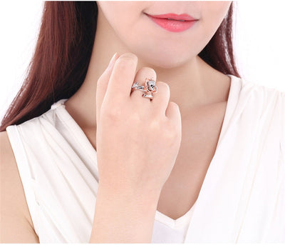 Skull Rose Ring For Women
