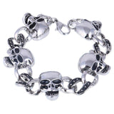 Chain Reaction Skull Bracelet For Men