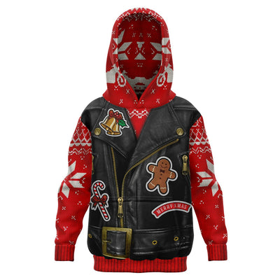 Sons Of Santa- Athletic Kids Hoodie(skull Santa)