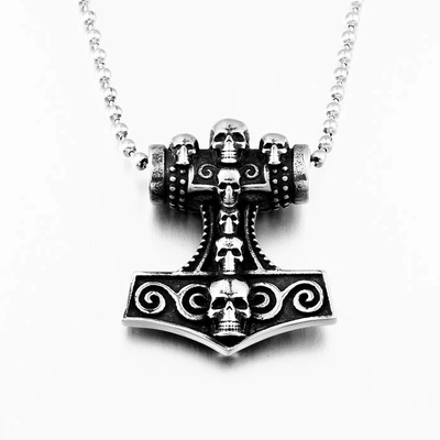 Viking Skull Necklace For Men