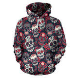 Red & White Skull Hoodies