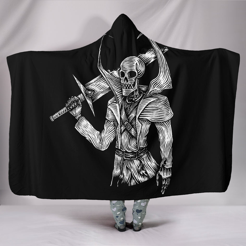 Skull Warrior Hooded Blanket