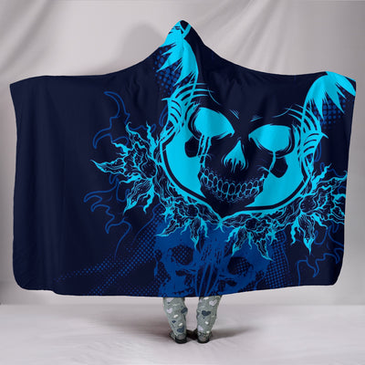 3D Skull Art Hooded Blanket 003