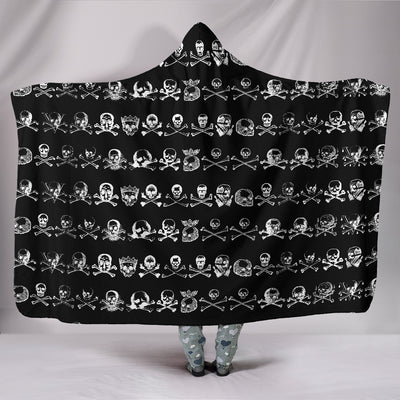 Pirate Skulls Hooded Blanket