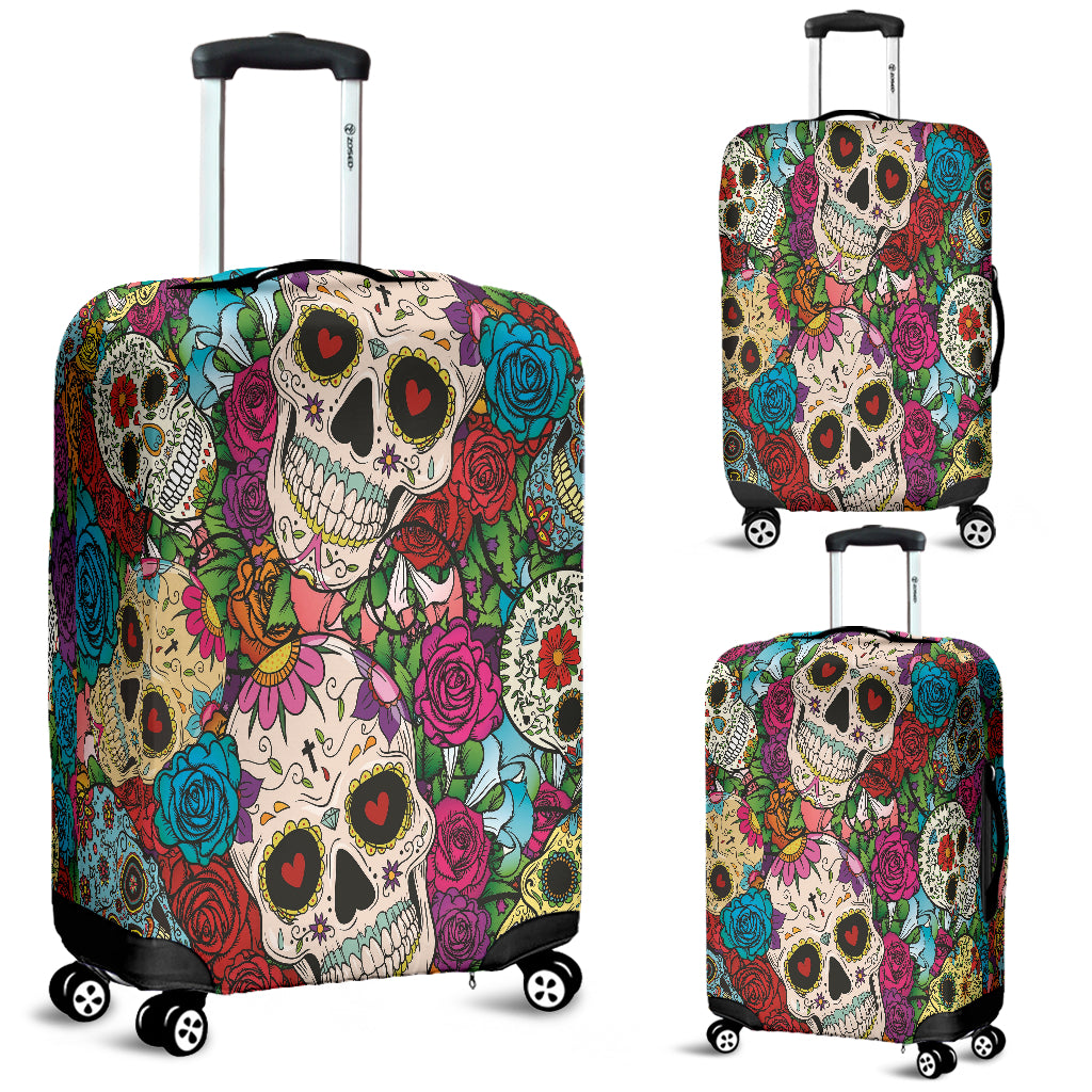 Sugar Skull Luggage Cover