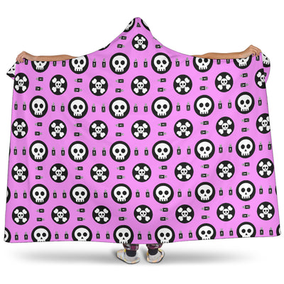 Skulls and Potion Hooded Blanket