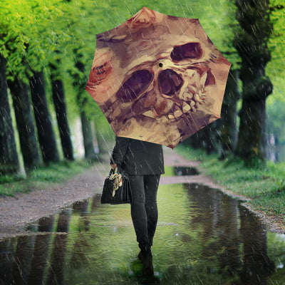 Flower Smiling Skull Umbrella