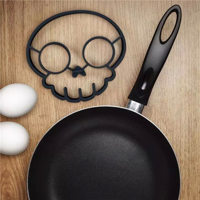 Unique Skull Mold For Fried Eggs