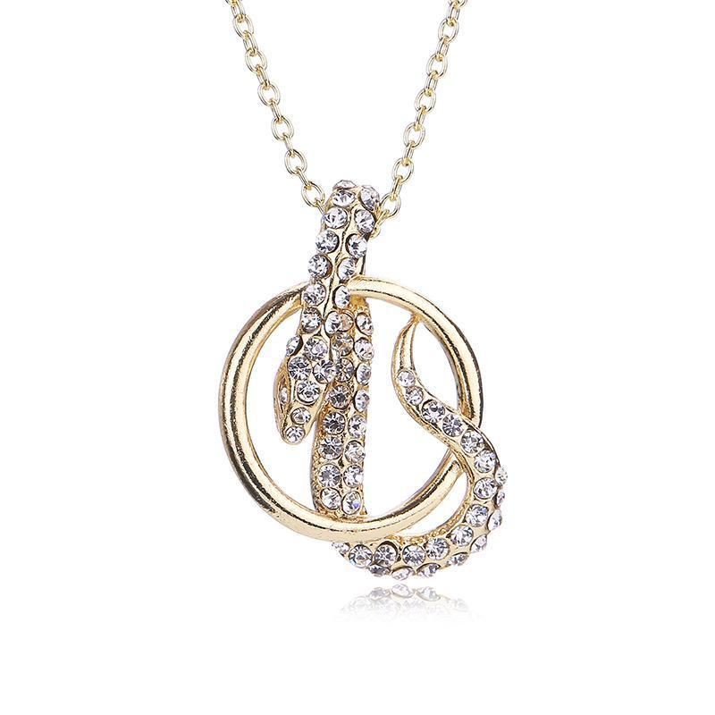 Pendant Necklaces - Snake Crystal Pendant Necklace