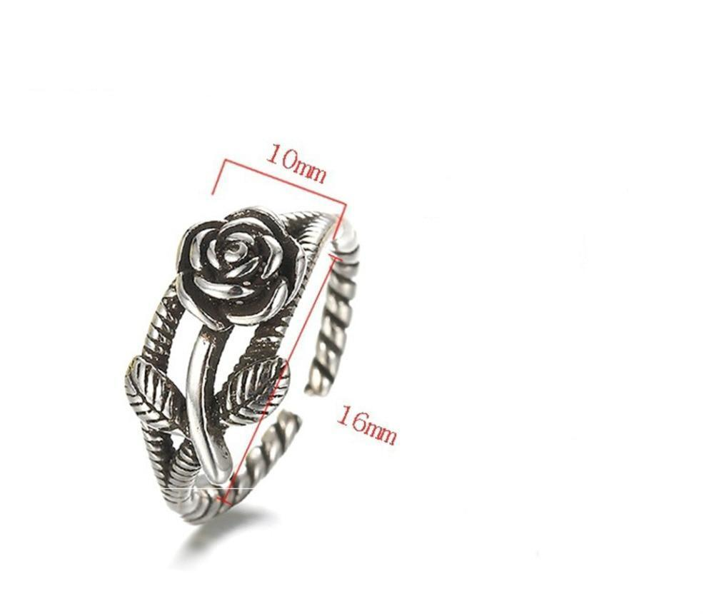 Rings - Vintage Rose Flower Adjustable Open Ring