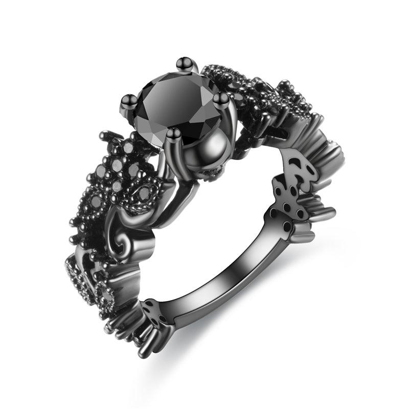 Skull Rings - Deep Black Skull Ring