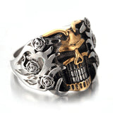 Skull Rings - Rose Armour Skull Ring