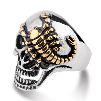 Skull Rings - Scorpion Skull Ring