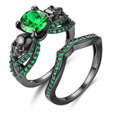 Skull Rings - Skull Rock Ring Set