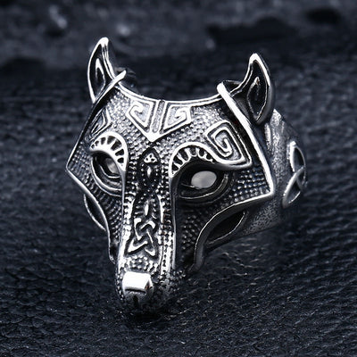 Viking Wolf Ring For Men And Skull Lovers