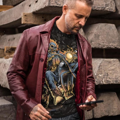 Skull Ghost Rider All-Over T-Shirt