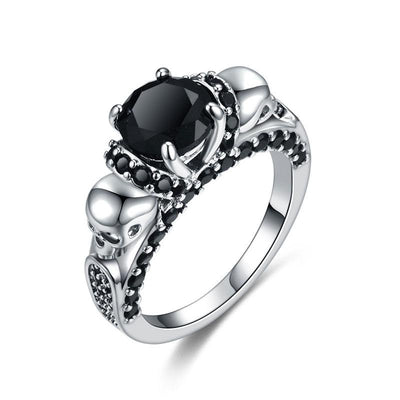 Wedding Bands - Dark Power Skull Ring