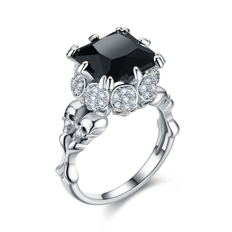 Wedding Bands - FREE- Black Claw Skull Ring