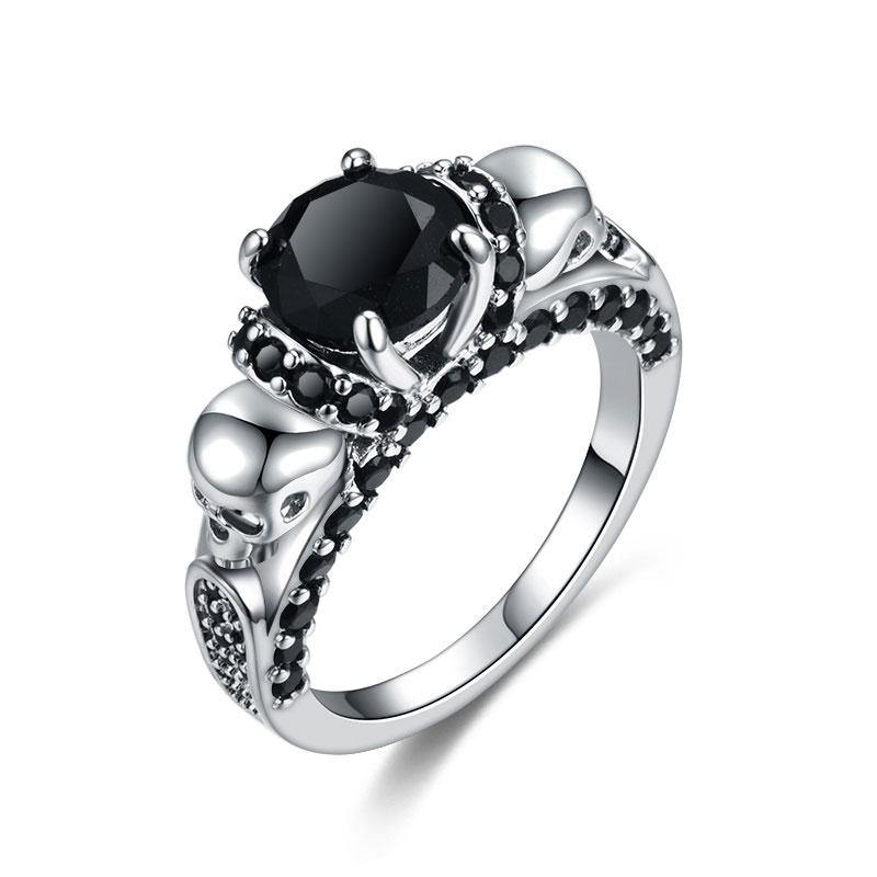 Wedding Bands - FREE-Dark Power Skull Ring