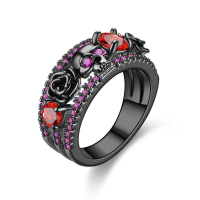 Wedding Bands - FREE-Power Rose Skull Ring