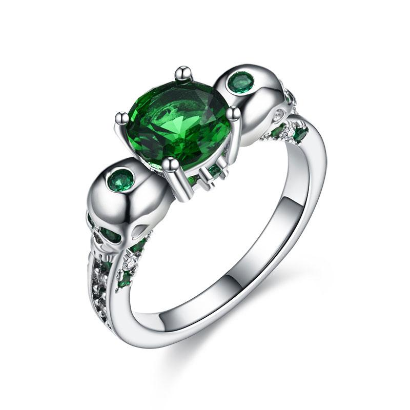 Wedding Bands - Green Lantern Skull Ring