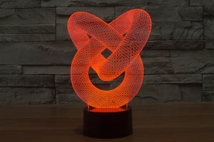 Abstract Graphic Creative 3D Optical Illusion LED Lamp
