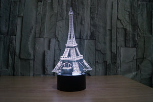 Eiffel Tower Table Decorative 3D Optical Illusion LED Lamp