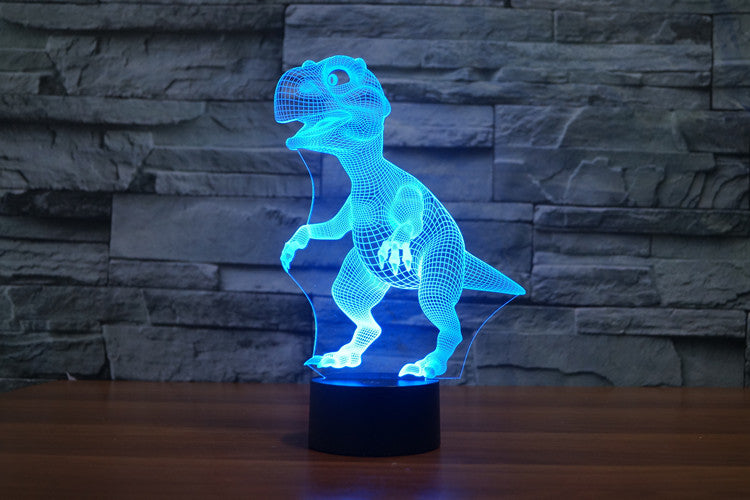 Dinosaur Baby 3D Optical Illusion LED Lamp