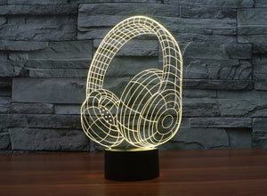 Headset 3D Optical Illusion LED Lamp