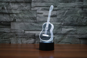 Guitar 3D Optical Illusion LED Lamp