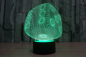 Dice Shape 3D Optical Illusion LED Lamp