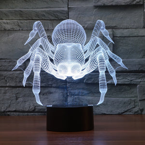 Spider 3D Optical Illusion LED Lamp