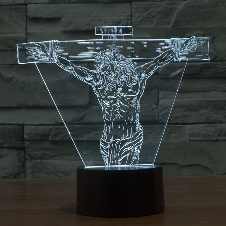The Passion of Jesus Christ 3D Optical Illusion LED Lamp