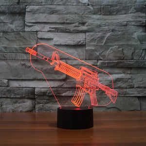 chilldecor.com The Gun 3D Optical Illusion LED Lamp